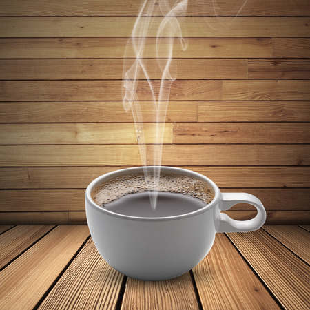 jamoke: Hot Coffee Cup Stock Photo