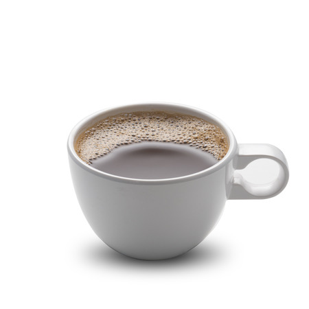 jamoke: Hot Coffee Cup and Coffee Beans