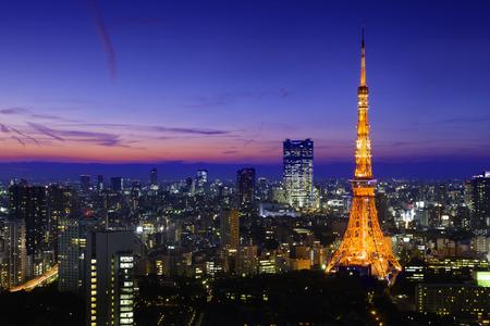 tokyo tower: Tokyo Tower At Night