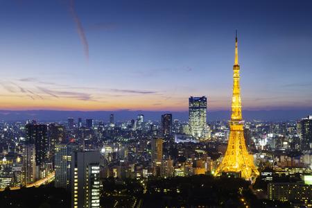 Tokyo-Turm, Tokio, Japan Standard-Bild - 45145002