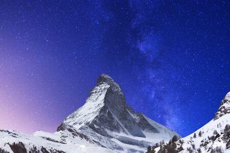 pyramid peak: Matterhorn Peak with Galaxy