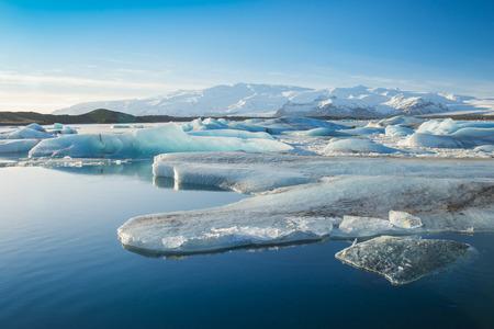 jokulsarlon: Jokulsarlon a large glacial lake in southeast Iceland Stock Photo
