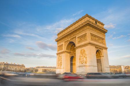champs elysees quarter: Arc de Triomphe in Paris, France