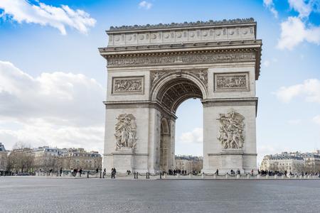 champs elysees quarter: Arc de Triomphe, Paris. France. Stock Photo