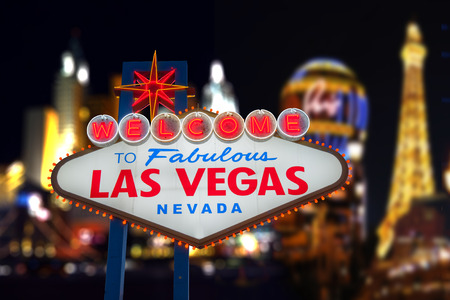 las: Welcome to Fabulous Las Vegas Neon Sign