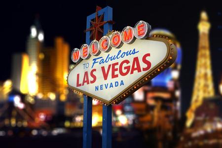 Bienvenido a la fabulosa Las Vegas Muestra de neón Foto de archivo - 41091471