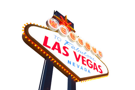 Welcome to Las Vegas neon sign 免版税图像