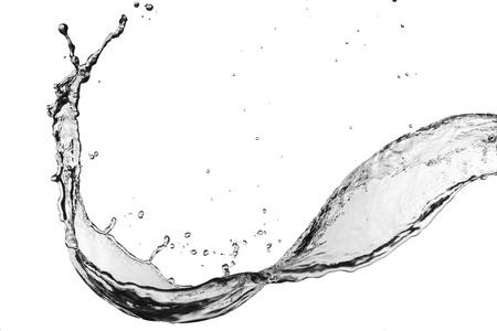 splash de agua: Splash de agua en el fondo blanco Foto de archivo