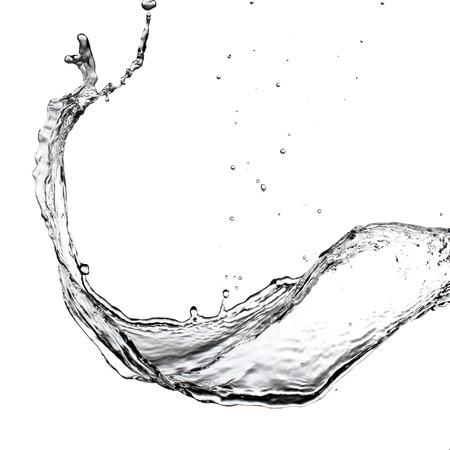 Water splash op witte achtergrond