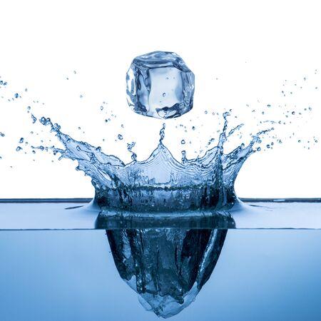 splash of water: Water Splash From Ice Cube