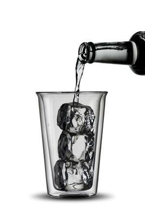 welling: Glass of Cold Water with ice cubes Stock Photo