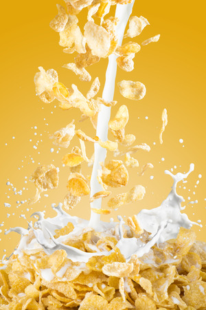 corn flakes: Milk Splash With Corn Flakes