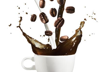 Coffee and Milk Splash