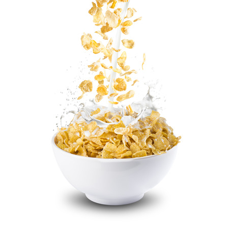 corn flakes: Corn Flakes and Milk Splash