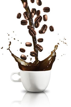 コーヒーのスプラッシュ 写真素材