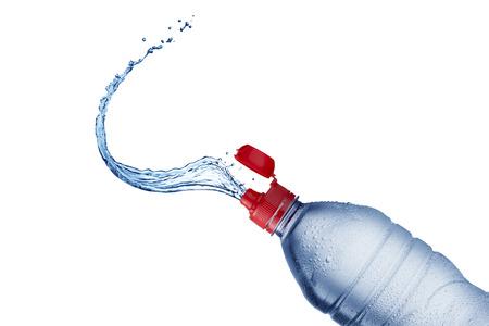 welling: Water Splash from Bottle Stock Photo
