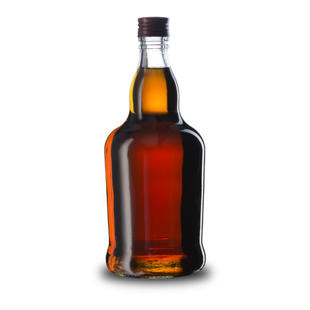 glass bottle: Bottle of Whiskey Stock Photo