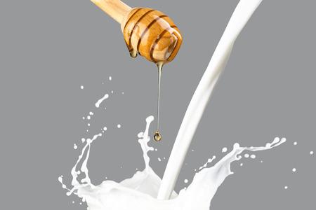 Honey Drip On Milk Splash