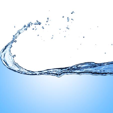 water splash: Splash de agua en el fondo blanco Foto de archivo