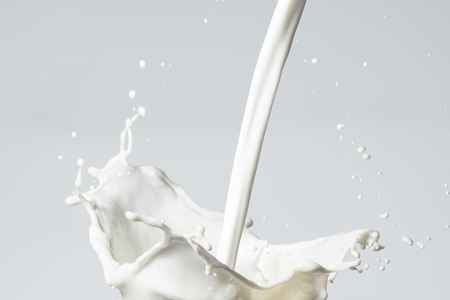 drinking milk: Milk Splash