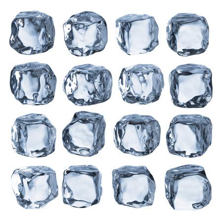 cubo: Cubitos de hielo  Foto de archivo