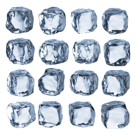 ice crystal: Ice Cubes Stock Photo