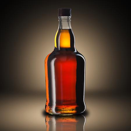 Bottle of Whiskey Stock Photo