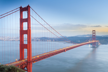 Golden Gate Bridge, San Francisco, Kalifornie, USA Reklamní fotografie