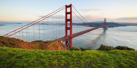 golden: Golden Gate Bridge, San Francisco, California, USA