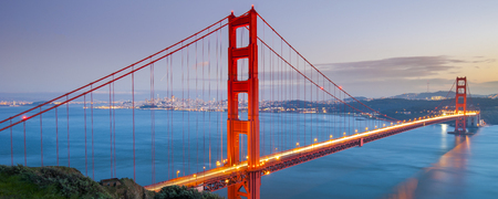 golden: Golden Gate Bridge, San Francisco, California, USA