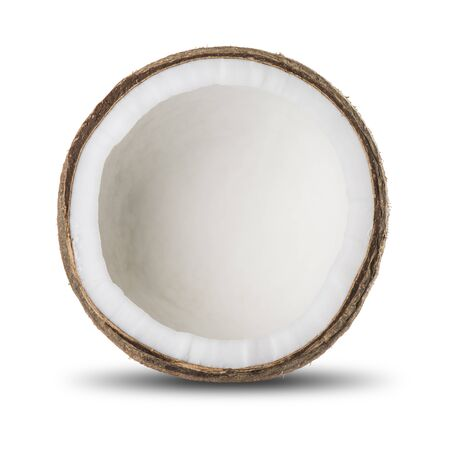 copra: Fresh Coconut On White Background
