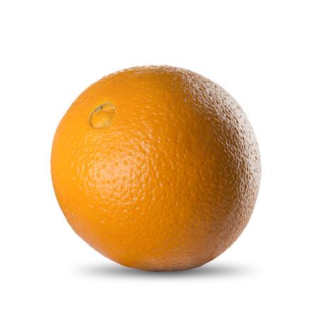 pealing: Orange on White Background