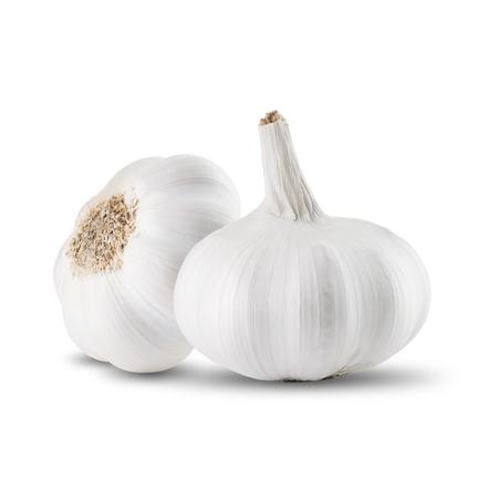 garlic: Fresh Garlic On White Background