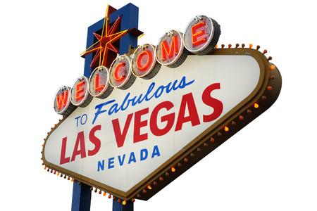 Willkommen nach fabelhaftes Las Vegas-Leuchtreklame Standard-Bild - 50819987