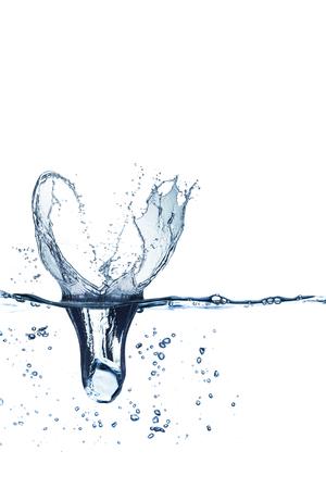 Splash acqua da cubetti di ghiaccio Archivio Fotografico - 50821836