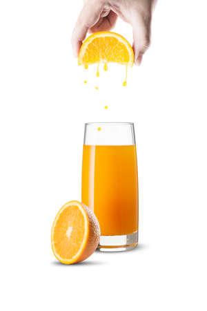 pealing: Glass of Orange Juice