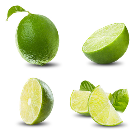lime: Fresh Lime On White Background