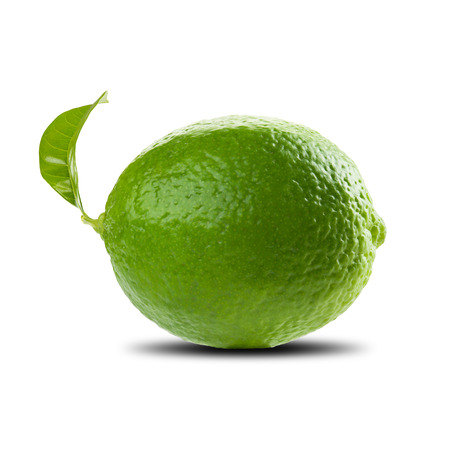 lime slice: Fresh Lime On White Background