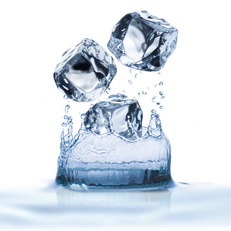 Water Splash From Ice Cubes