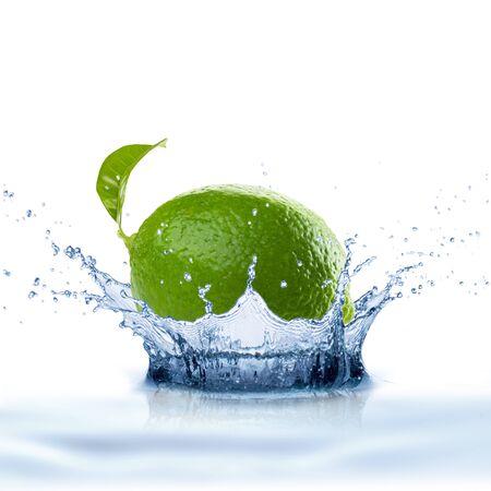 white water: Water Splash on White Background