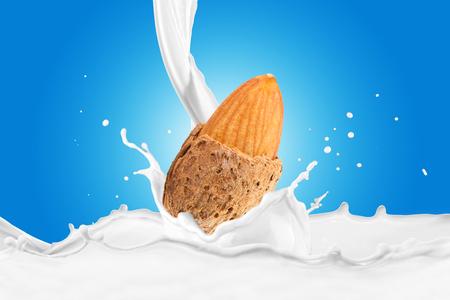 Fresh Almond With Milk Splash
