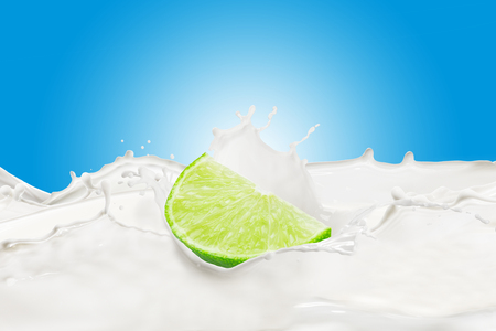 Fresh Lime With Milk Splash