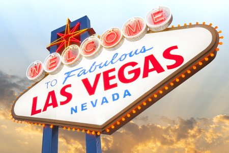 Welcome to Las Vegas Sign Imagens