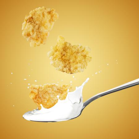 Cornflakes and Milk Splash