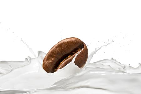 Coffee Bean And Milk Splash