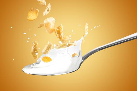 Cornflakes With Milk Splash