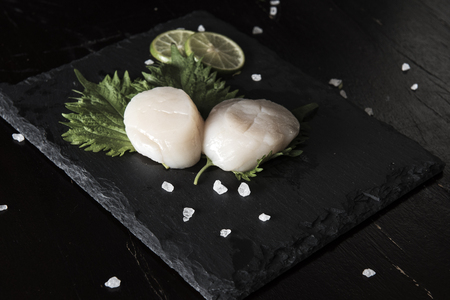 Scallop Seafood Preparation Standard-Bild