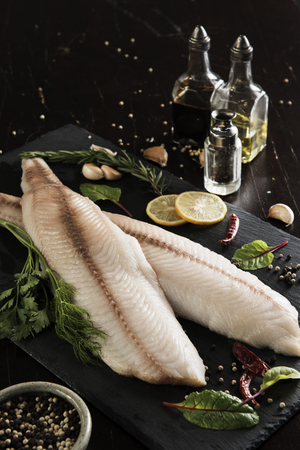 Fish Fillet With Ingredients
