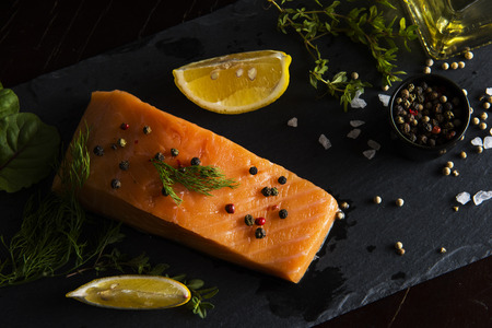 Salmon Fillet with Pepper and Other Ingredients