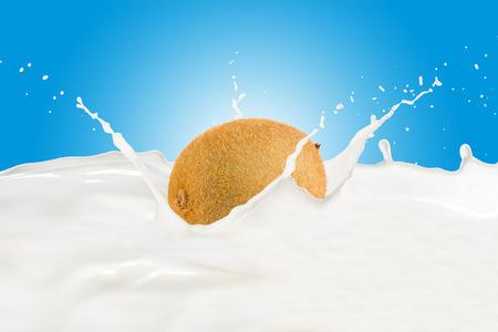 Kiwi With Milk Splash